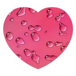 """Коврик для мышки (сердце) """"Капли воды"""" - графика, абстракция, капли, вода, дизайн"""