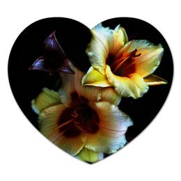 """Коврик для мышки (сердце) """"Лилии"""" - арт, цветы, фото, лилии"""