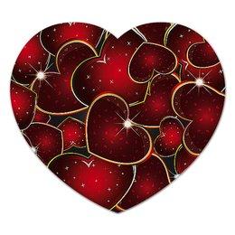 """Коврик для мышки (сердце) """"ЯРКОЕ СЕРДЦЕ"""" - стиль, сердца, красота, яркость, абстракция"""