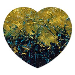 "Коврик для мышки (сердце) ""Abstract"" - картина, разводы, абстракция, живопись, флюид"