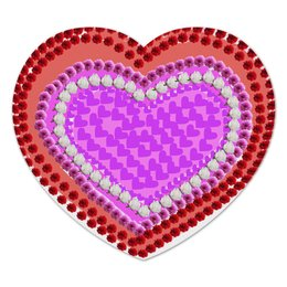 """Коврик для мышки (сердце) """"Сердце из цветов"""" - сердце"""