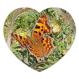 "Коврик для мышки (сердце) ""Королева."" - бабочка, бабочки, лето, природа, макро мир"