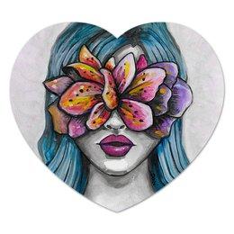 """Коврик для мышки (сердце) """"Весна"""" - праздник, девушка, цветы, 8 марта, весна"""