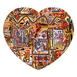 "Коврик для мышки (сердце) ""zzzeert"" - арт, узор, абстракция, текстура"