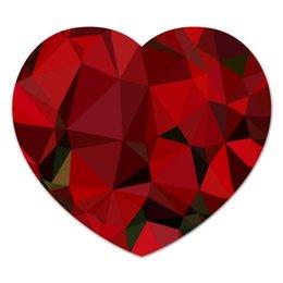 """Коврик для мышки (сердце) """"Каменное Сердце..."""" - сердце, любовь, красное, камень, драгоценности"""