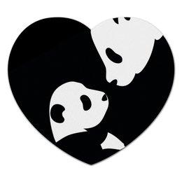 "Коврик для мышки (сердце) ""панда"" - p-a, n-da"
