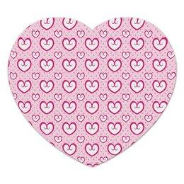 """Коврик для мышки (сердце) """"Узор сердец"""" - сердце, любовь, узор, сердечки, день влюбленных"""