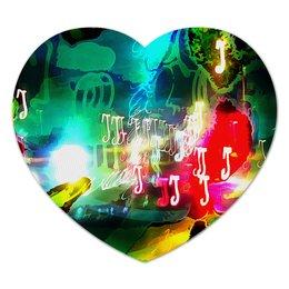 """Коврик для мышки (сердце) """"Abstract Raster 160"""" - яркий, свет, абстрактный, цветной, эмоция"""