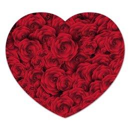 """Коврик для мышки (сердце) """"Roses"""" - для девушек, любовь, rose, подарок, розы"""