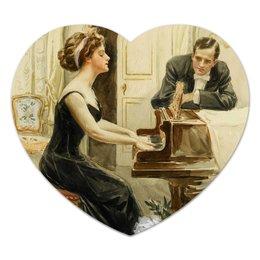 """Коврик для мышки (сердце) """"День Святого Валентина"""" - настроение, арт, винтаж, 14фев, harrison fisher"""