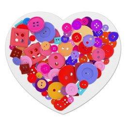 """Коврик для мышки (сердце) """"День всех влюбленных"""" - любовь, день святого валентина, валентинка, i love you, день влюбленных"""