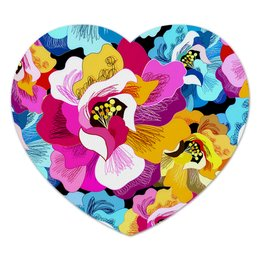 """Коврик для мышки (сердце) """"Цветы"""" - лето, цветы, цветок, рисунок, весна"""