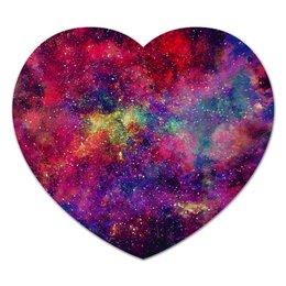 """Коврик для мышки (сердце) """"Космос"""" - space, stars, cosmos, galaxy, космический дизайн"""
