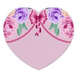 """Коврик для мышки (сердце) """"Цветы"""" - цветы, розы"""