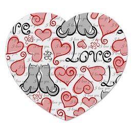 "Коврик для мышки (сердце) ""День Св. Валентина"" - день св валентина, сердце, любовь, коты"