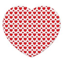 """Коврик для мышки (сердце) """"Красные сердечки"""" - сердце, любовь, узор, сердечки, день валентина"""