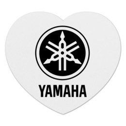 "Коврик для мышки (сердце) ""YAMAHA"" - авто, машина, мото, yamaha, ямаха"