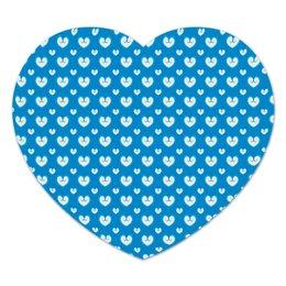 """Коврик для мышки (сердце) """"Белые сердечки"""" - сердце, любовь, узор, сердечки, день влюбленных"""