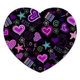 """Коврик для мышки (сердце) """"Любовь"""" - сердце, любовь, сердца, рисунок, я люблю"""
