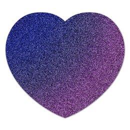 """Коврик для мышки (сердце) """"Gli heart"""" - сердце, стиль, блестяшки, глиттер"""