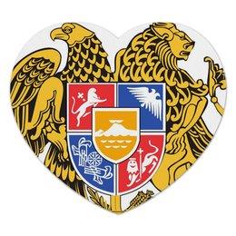 """Коврик для мышки (сердце) """"герб Армении"""" - армения, armenia, герб"""