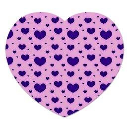 """Коврик для мышки (сердце) """"Синее сердце"""" - сердце, любовь, день святого валентина, сердечки, я люблю"""