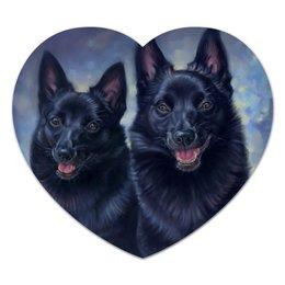 """Коврик для мышки (сердце) """"Шипперке Сладка Парочка"""" - арт, иллюстрация, собаки, влюбленным, шипперке"""