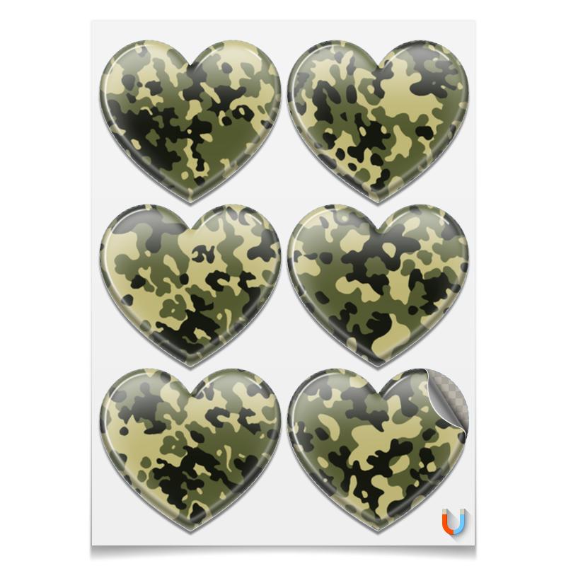 Наклейки сердца Printio Камуфляж 2 printio наклейки сердца