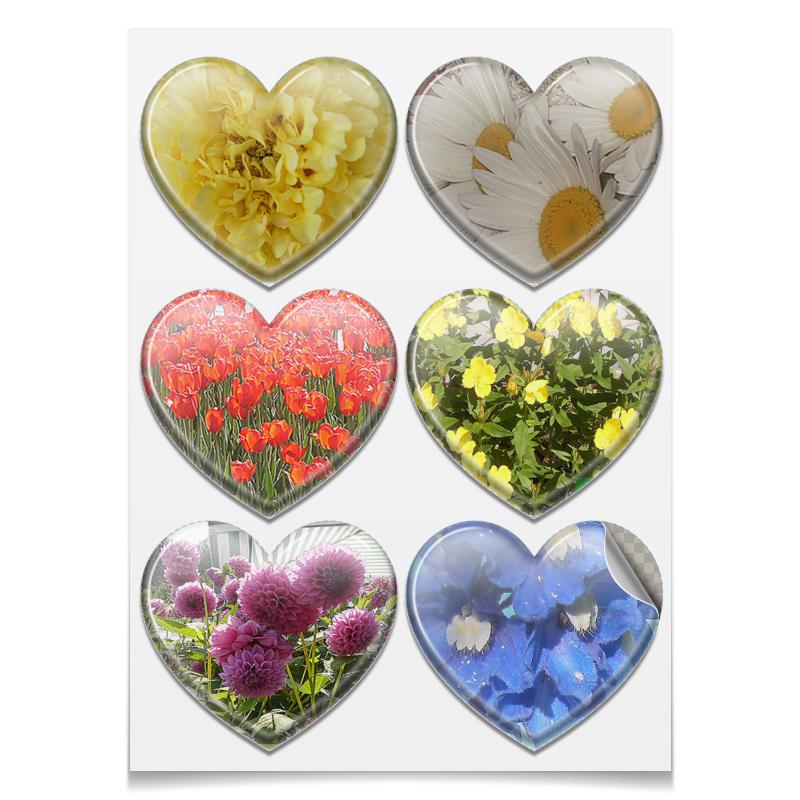 Наклейки сердца Printio Райский цветник. printio наклейки сердца
