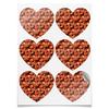 """Наклейки сердца """"Дикая малина"""" - красный, ягоды, малина, сладкий, аромат"""