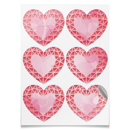 "Наклейки сердца 6 шт ""сердце"" - сердечки, сердца, сердце"