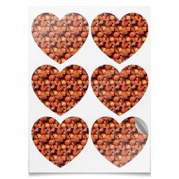 """Наклейки-сердца 7.5x9.7см """"Дикая малина"""" - ягоды, малина, сладкий, аромат"""
