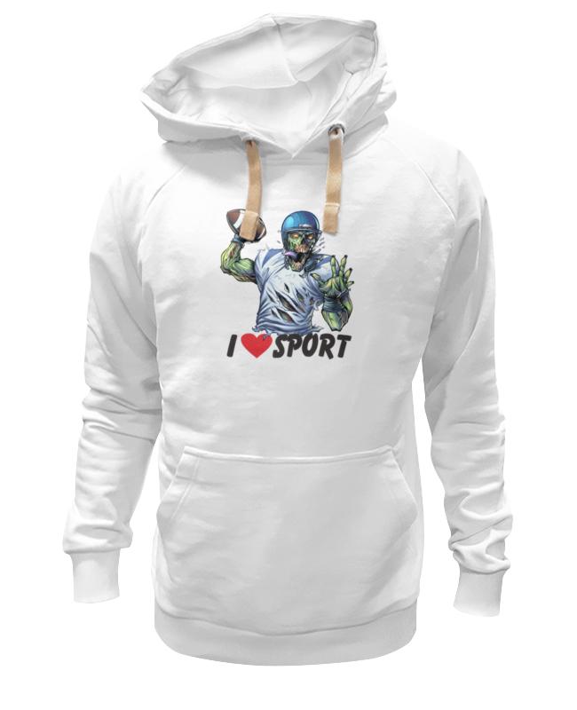 Толстовка Wearcraft Premium унисекс Printio Зомби спорт - я люблю спорт