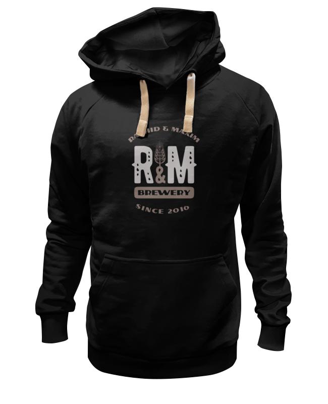 Printio R&m hoodie black black oversize hoodie mini dress