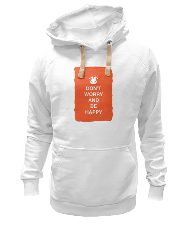 Толстовка Wearcraft Premium унисекс Printio Don't worry and be happy позитапки don t worry be happy s черные