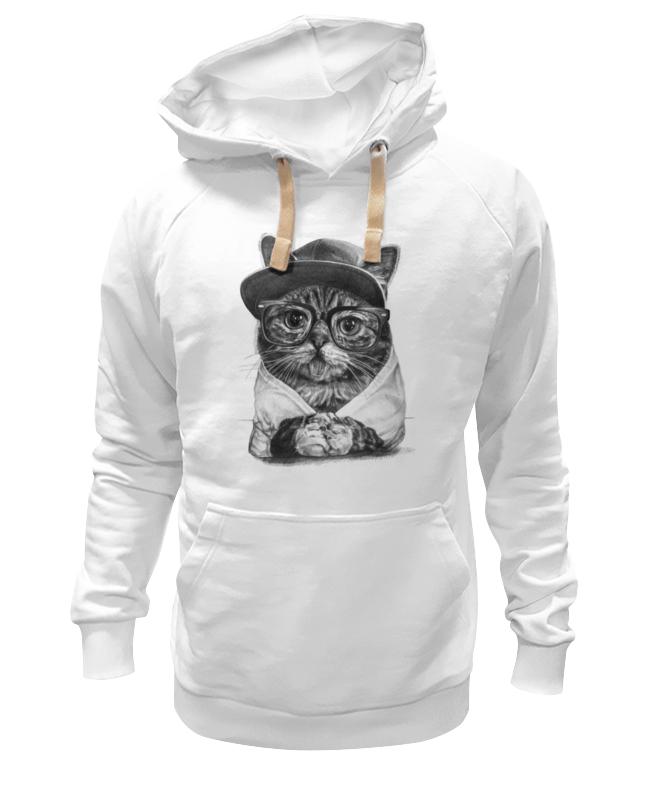 Толстовка Wearcraft Premium унисекс Printio Крутой кот футболка wearcraft premium printio rabbit cool mix крутой кроличий микс