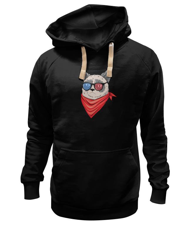 Толстовка Wearcraft Premium унисекс Printio Сердитый котик в 3d