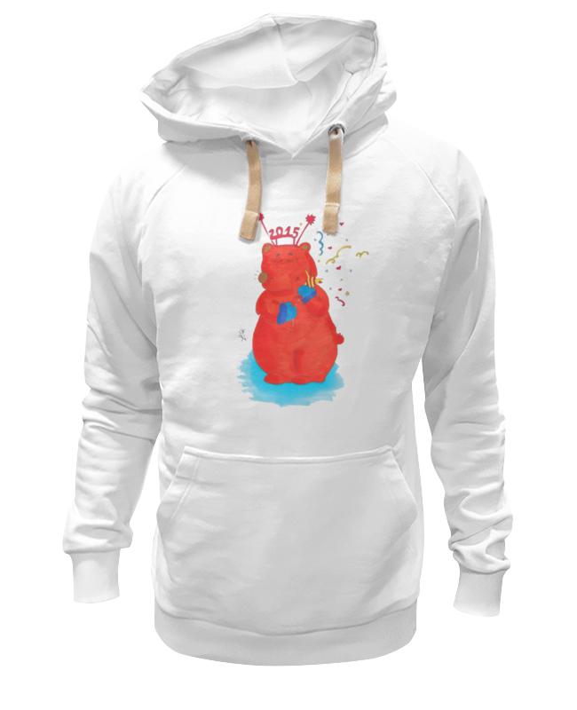 Толстовка Wearcraft Premium унисекс Printio Новогодний медведь футболка wearcraft premium printio новогодний медведь