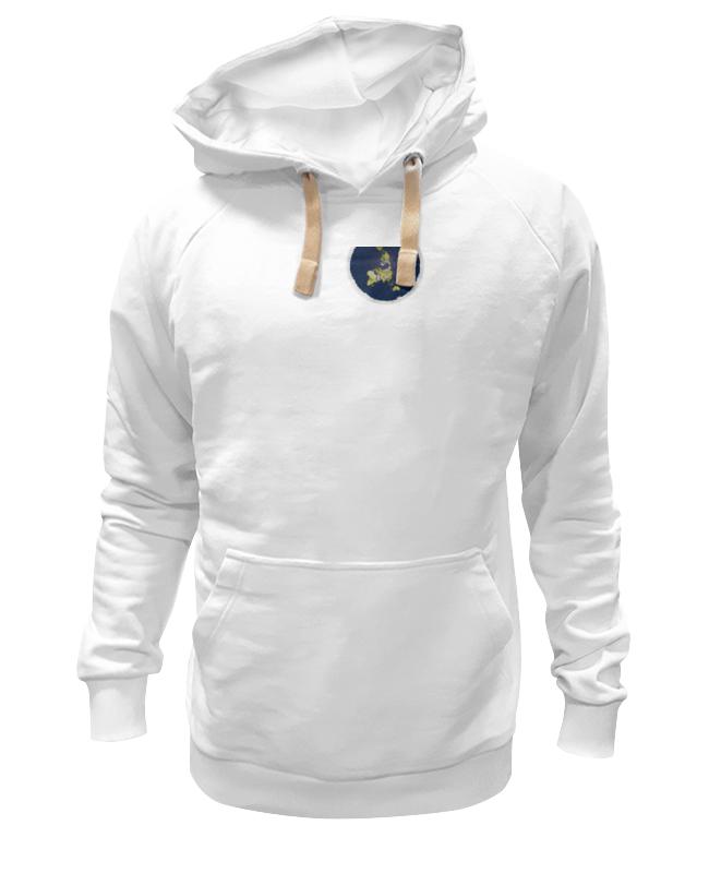 Толстовка Wearcraft Premium унисекс Printio плоская земля (женская, белая) футболка классическая printio плоская земля женская белая
