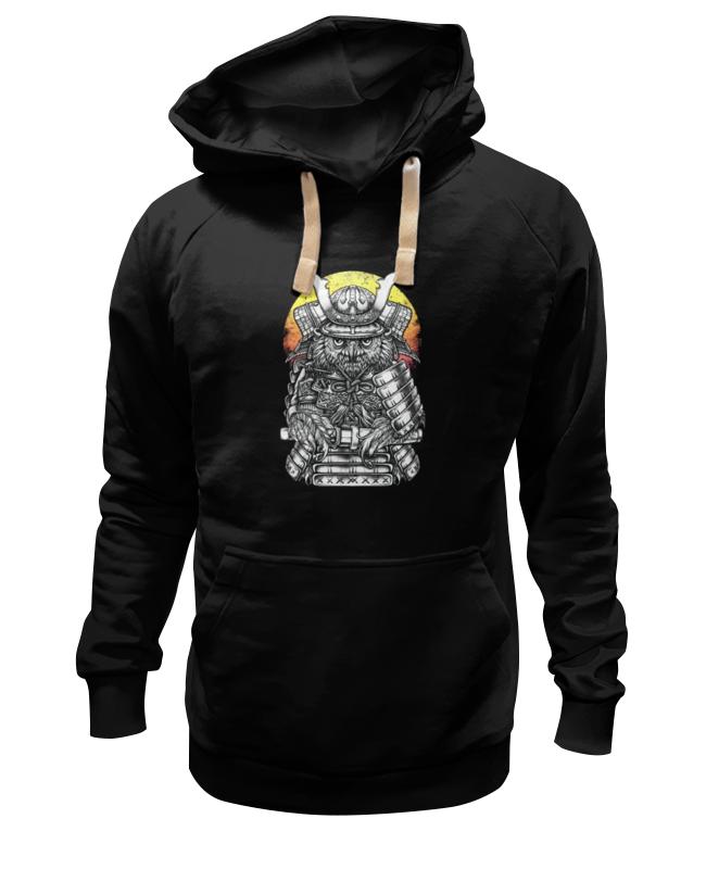 Толстовка Wearcraft Premium унисекс Printio Owl samurai / сова самурай цена и фото