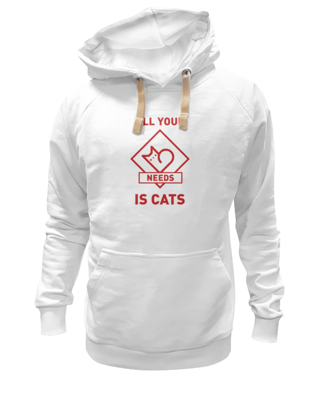 Толстовка Wearcraft Premium унисекс Printio All your needs is cats