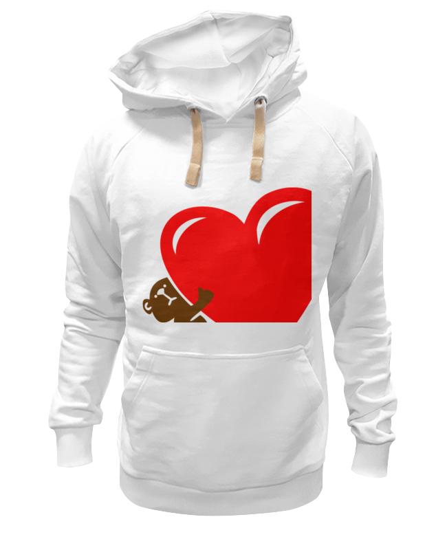 цена Толстовка Wearcraft Premium унисекс Printio Bear heart