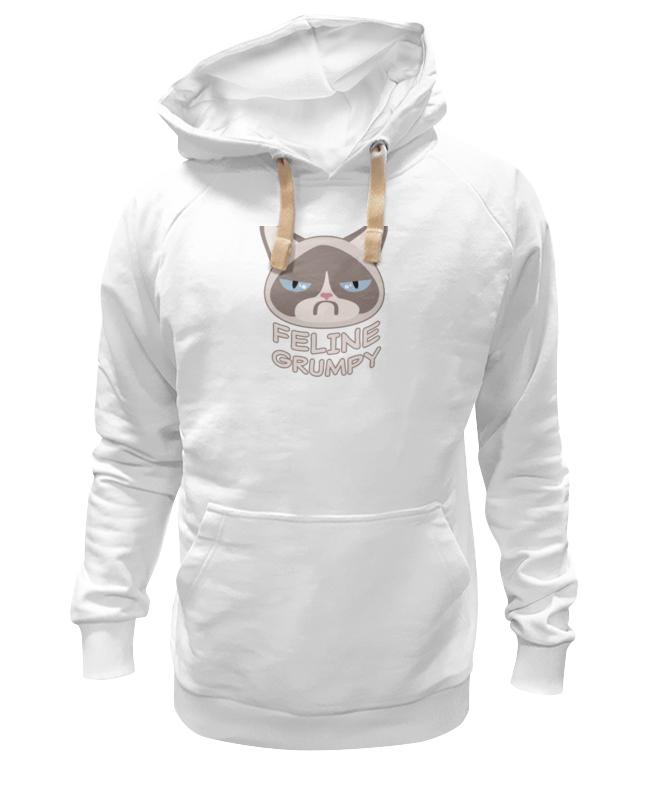 Толстовка Wearcraft Premium унисекс Printio Грустный кот (grumpy cat) футболка wearcraft premium slim fit printio грустный кот grumpy cat