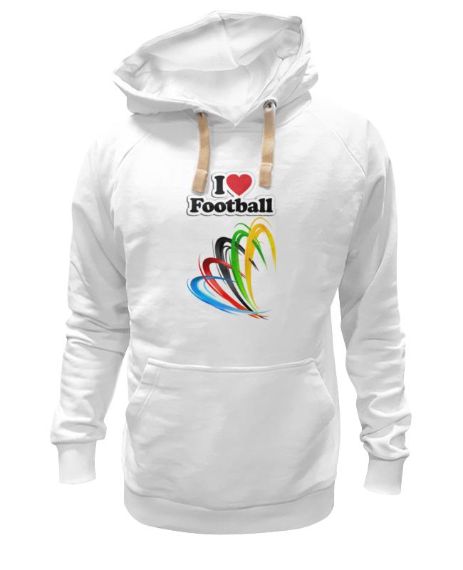 Толстовка Wearcraft Premium унисекс Printio Я люблю футбол толстовка wearcraft premium унисекс printio футбол