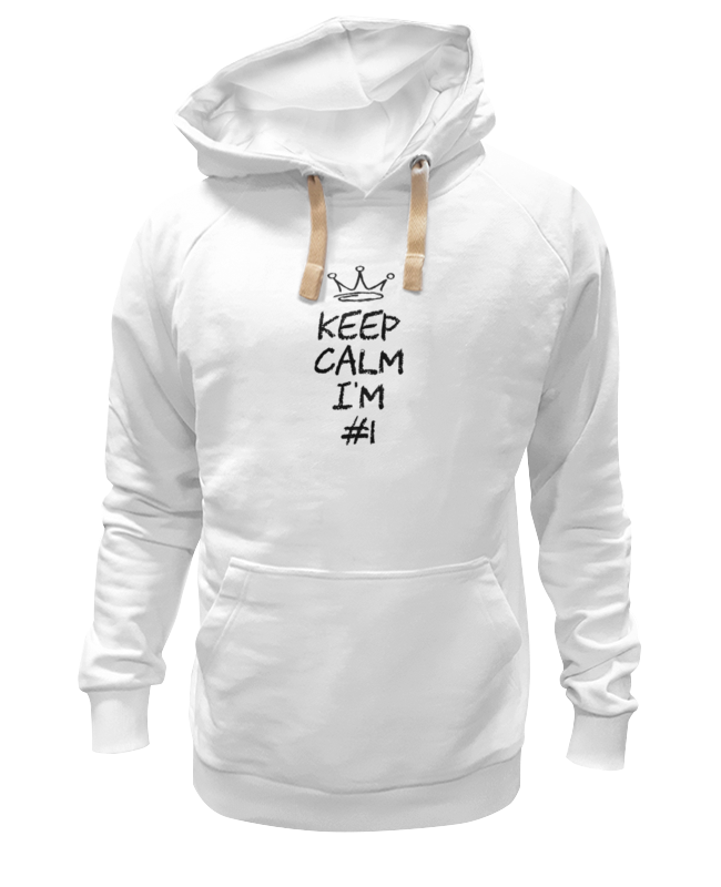 Толстовка Wearcraft Premium унисекс Printio Keep calm i am #1 футболка wearcraft premium printio keep calm i am 1 1