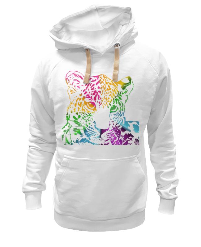 Толстовка Wearcraft Premium унисекс Printio Радужный леопард толстовка wearcraft premium унисекс printio муравьед с цветами