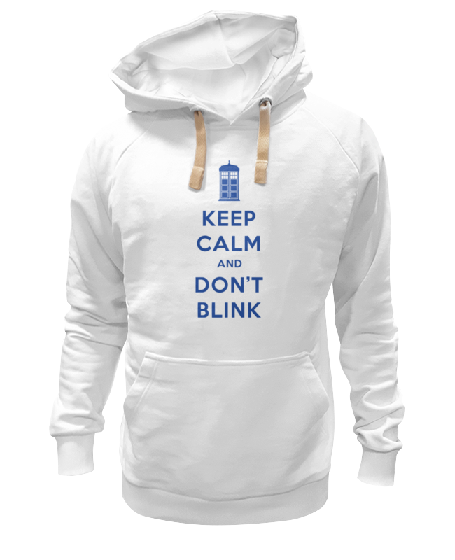 Толстовка Wearcraft Premium унисекс Printio Keep calm and don't blink (tardis) цена