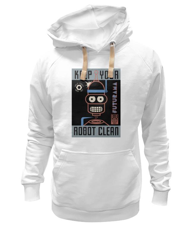 Толстовка Wearcraft Premium унисекс Printio Keep your robot clean толстовка wearcraft premium унисекс printio keep your smiling sheep
