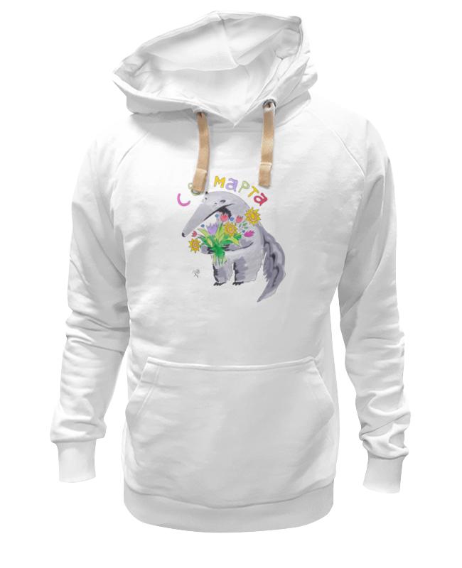 Толстовка Wearcraft Premium унисекс Printio Муравьед с цветами майка классическая printio муравьед с цветами