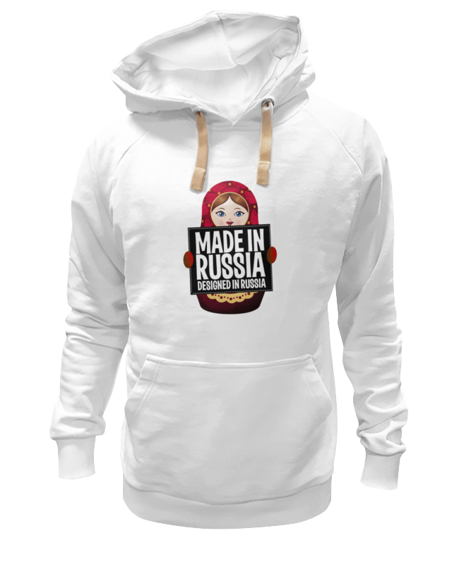 Толстовка Wearcraft Premium унисекс Printio Made in russia by hearts of russia alcohol consumption in russia 1970 2014